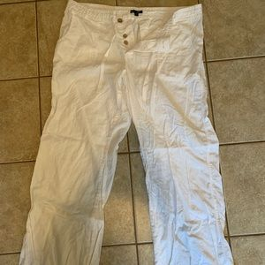 GAP Hadley white linen pants